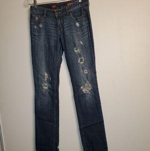Express Stella Skinny Leg  Distressed Jeans